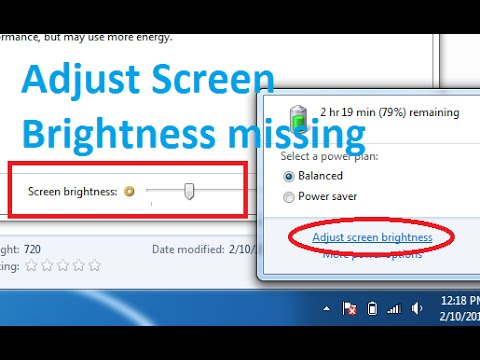 How to fix 'Adjust Screen brightness' not showing up in Windows 7 / Screen Brightness slider missing