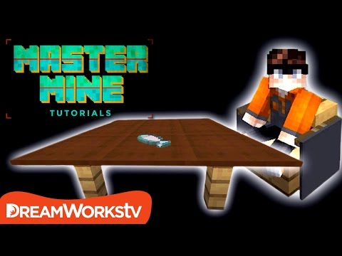 How to Make WORKING TABLE & CHAIRS in Minecraft | MASTER MINE TUTORIALS