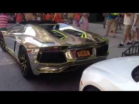 50 cent new Lamborghini aventador and stopping traffic in New York City by Empire state Building