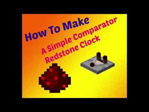 How to make an Easy Redstone comparator clock [minecraft]