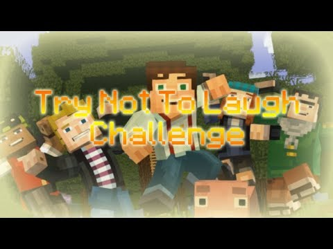 Try Not To Laugh Challenge! | Minecraft Story Mode Edition (All of Season 2)