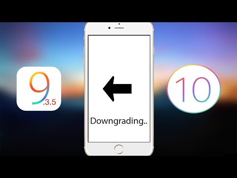How To Downgrade iOS 10.x To 9.3.5
