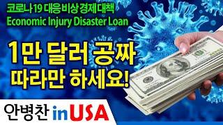 [안병찬 in USA : 코로나19 대응 비상 경제 대책] 1만 달러 공짜, 따라만 하세요!  Economic Injury Disaster Loan
