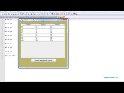 JAVA IO - How To Export JTable Data To Text File In Java [ with source code ]