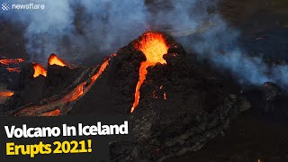 Volcanic eruption in the Reykjanes peninsula in Iceland 2021