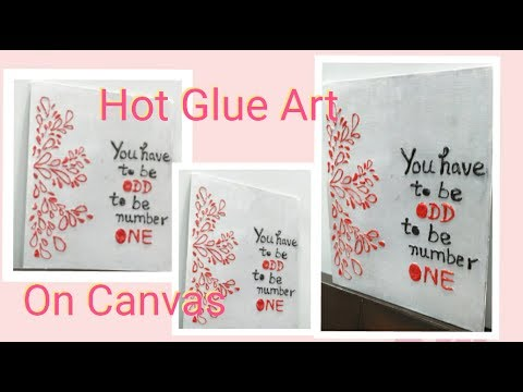 DIY Emboss Painting On Canvas | Enjoy Crafting # 66