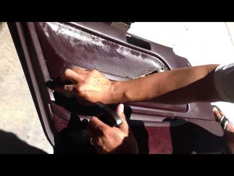 How to remove carpet and glue from door panels