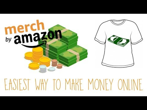 Easiest Way to Make Money Online! Merch By Amazon | Selling T Shirts