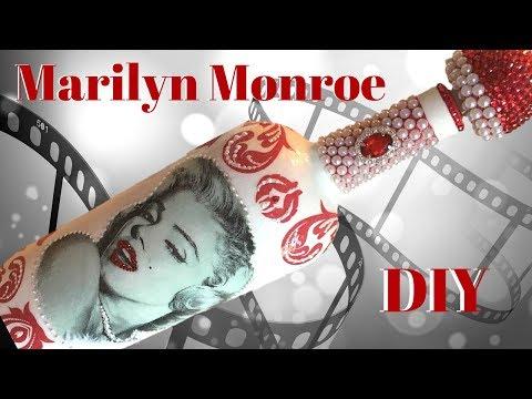 Marilyn Monroe Decoupage Wine Bottle DIY
