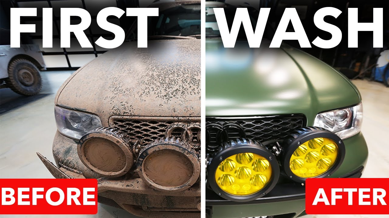 First Wash Audi RS4 Avant SAFARI after Matt Farah Filthy Muddy Off-Road Rally