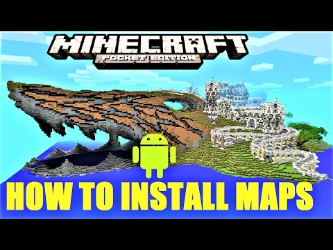 Minecraft PE - How to install maps on android !  MCPE 1.0.5 | 2017