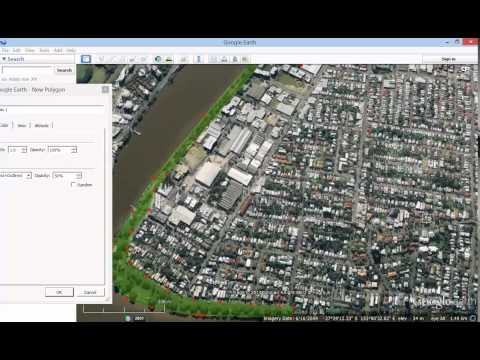 Google Earth Tutorial   How to add a shape - polygon - to Google Earth