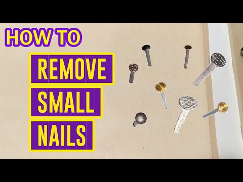 How To Remove SMALL NAILS Easily From Wood