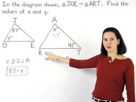 Corresponding Angles of Similar Triangles | MathHelp.com