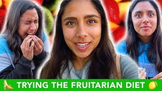 Trying The FRUITARIAN Raw Vegan Diet For A Week 🍎🍌🍍
