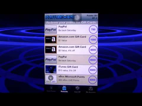 Photorewards - screenshots that earn you money! for iPhone iPod and iPad - IOS devices