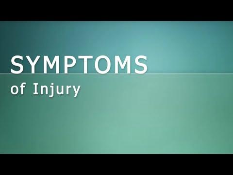 Injury. Symptoms