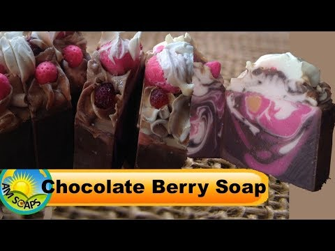 Chocolate berry soap