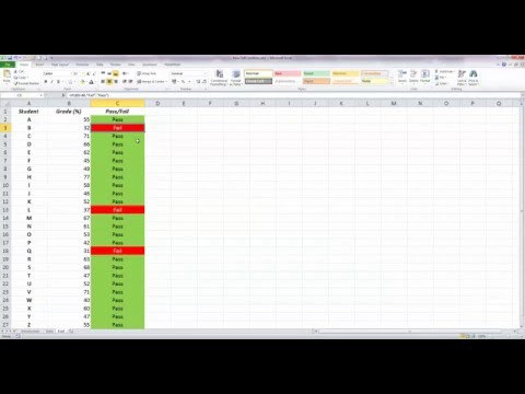 How To... Use Basic Conditional Formatting with an IF Statement in Excel 2010