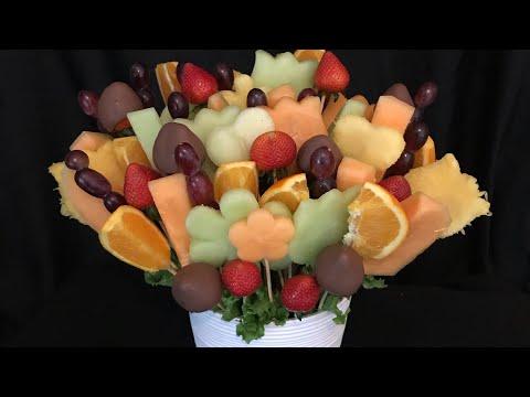 Como acer un arreglo de frutas