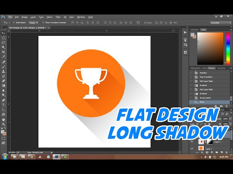 Tutorial Photoshop   How To make Flat Design And Long Shadow