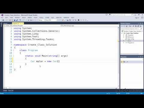 04 08 Solution Create and instantiate a class