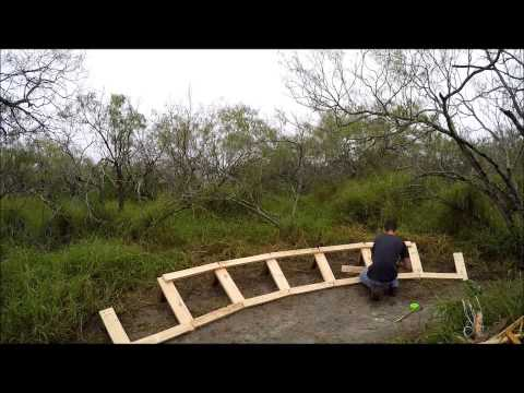 Building a Wooden Berm