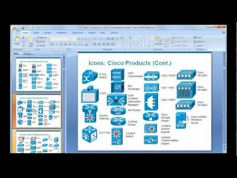 How to prepare a basic network diagram using Cisco icons & MS Power Point