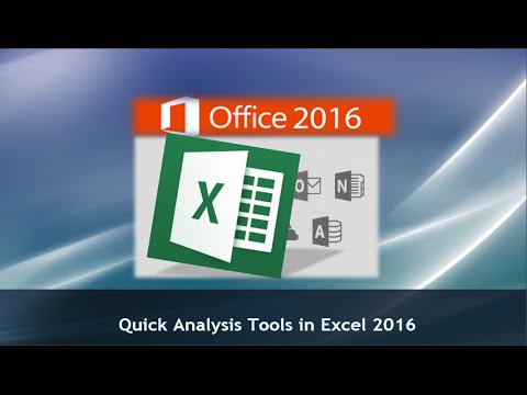 Excel 2016 Tutorial: Using the Quick Analysis Tools in Excel 2016