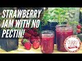 How to Make Strawberry Jam Recipe Without Pectin (& Low Sugar!) Prep in 15 Mins!