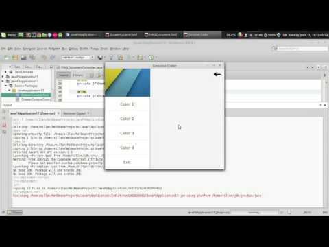 JavaFx JFoenix Tutorial #9 : Material Design Navigation