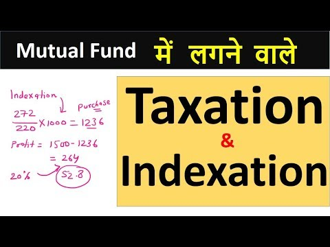 Mutual funds : Taxation & Indexation | Calculate Tax with indexation Hindi |