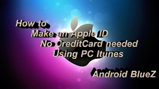 How To Make An Apple Id Without Credit Card Pc Itunes