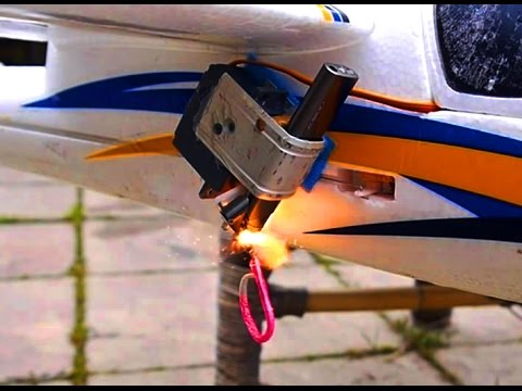 Servo controlled Lighter-Igniter for Fireworks!  RC Bomb-Dropper