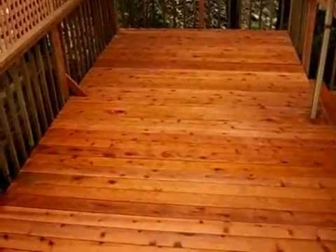 Stunning New Redwood Deck