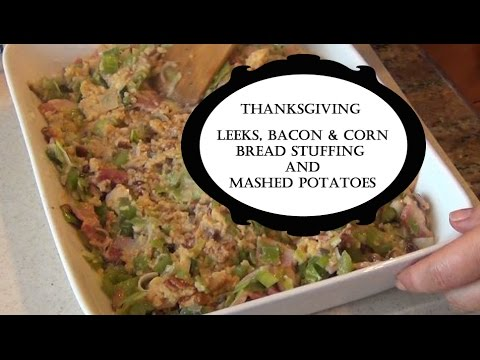 Thanksgiving cooking - Stuffing and Mashed Potaoes