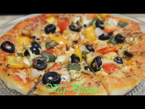 VEG PIZZA/RECIPE IN HINDI/WITH HOMEMADE BASE/KIDS SPECIAL.