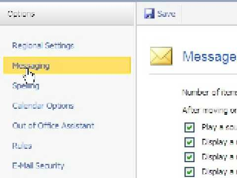 Microsoft Outlook 2007 - Creating a Signature for Outgoing Mail in Web Access