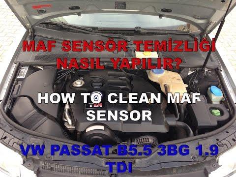 MAF Sensör Temizliği - Passat B5.5 3BG 1.9 TDI | How to Clean MAF Sensor
