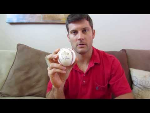 Best Location on a Baseball to get it Autographed - Sweet Spot - Powers Autographs Video