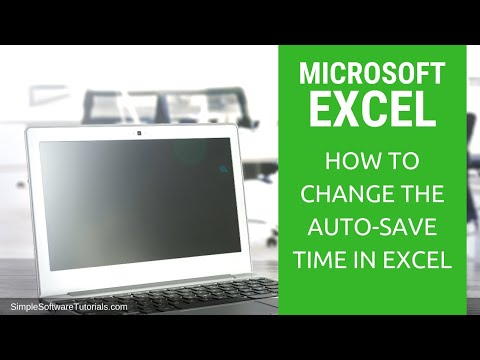 Tutorial: How to Change Auto Save Time in Excel 2016