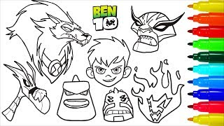 Ben 10 Coloring Book Pages I Fun Colouring Pages For Kids Tube10xnet