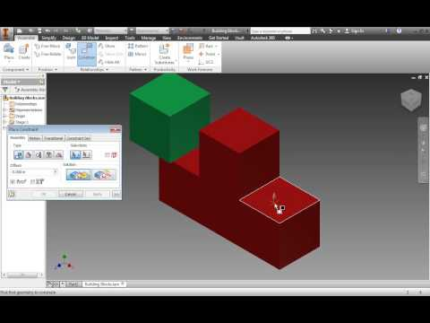 Autodesk Inventor 2014 Tutorial for Beginners Working with Assemblies (mates)