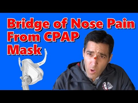 Pressure Sore on the Bridge of the Nose with CPAP Mask. How to Fix Mask Marks With CPAP.