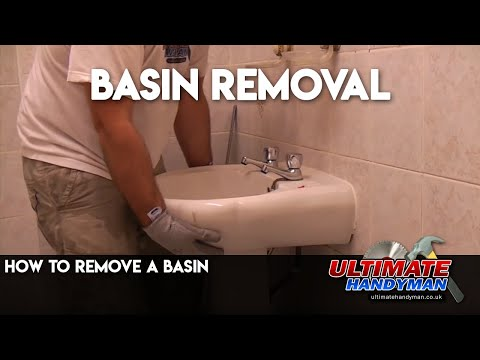 How to remove a basin