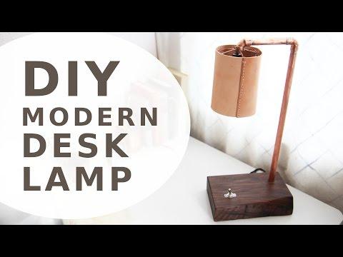 Copper Desk Light w/ LED Bulb