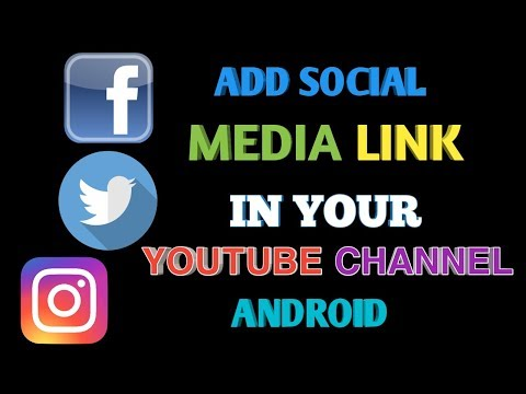 How To Add Your Social Media Link Icon In YouTube Channel Android || Hindi Tutorial
