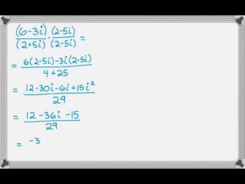 Dividing Complex Numbers of the form a + bi