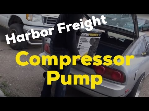 Harbor Freight 3hp air pump on craftsman compressor