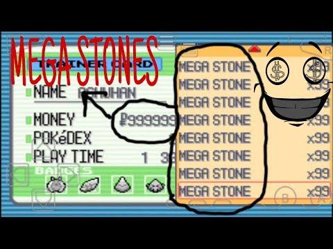 Pokemon Mega Light Platinium Cheat Codes(mega stone,complete pokedex etc)